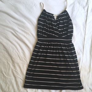 One Clothing Striped Summer Dress Black